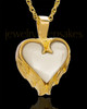 Remembrance Pendant 14k Gold Winged Heart Keepsake