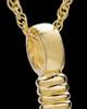 Ash Locket Gold Plated Hook Keepsake