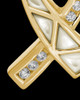 Cremation Locket 14k Gold Pearly Ribbon Keepsake
