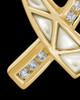 Cremation Locket Gold Plated Pearly Ribbon Keepsake