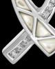 Cremation Locket 14k White Gold Pearly Ribbon Keepsake