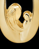 Jewelry Urn Gold Plated Heartfelt Round Keepsake