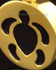 14k Gold Cremation Pendant Aquatic Keepsake