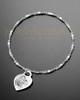 Luxury Small Heart Photo Engraved Bracelet