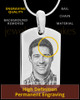 Photo Engraved Stainless Steel Small Dog Tag