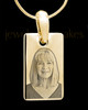 Gold Plated over Stainless Photo Small Rectangle