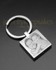 Stainless Square Cremation Photo Engraved Keychain