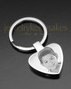 Stainless Heart Cremation Keychain