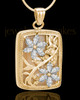 Gold Clear Spring Garden Memorial Charm