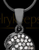 Black Plated Soaring Spirit Cremation Urn Pendant