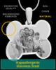 Silver Doggie Bone Photo Engraved Pendant