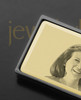 Gold on Black Photo Engraved Money Clip