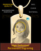 March Gold Photo Engraved Small Dog Tag