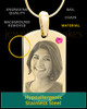 October Gold Photo Engraved Small Dog Tag