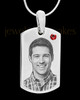 January Stainless Photo Small Dog Tag