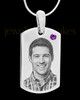 February Stainless Photo Small Dog Tag