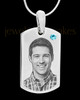 March Stainless Photo Small Dog Tag