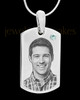 April Stainless Photo Small Dog Tag