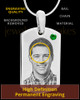 May Stainless Photo Small Dog Tag
