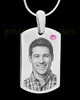 June Stainless Photo Small Dog Tag