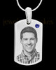 September Stainless Photo Small Dog Tag
