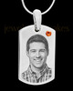November Stainless Photo Small Dog Tag