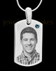 December Stainless Photo Small Dog Tag