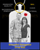 July Birthstone Dog Tag Stainless Photo Pendant