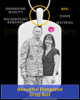 October Birthstone Dog Tag Stainless Photo Pendant