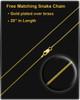 May Gold Dog Tag Photo Pendant