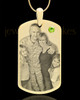 August Gold Dog Tag Photo Pendant