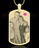 October Gold Dog Tag Photo Pendant