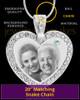 April Gem Heart Birthstone Stainless Photo Pendant