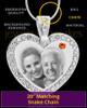 November Gem Heart Birthstone Stainless Photo Pendant