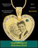 December Gold Gem Heart Birthstone Photo Engraved Pendant