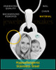 April Small Heart Stainless Photo Engraved Pendant