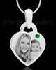 May Small Heart Stainless Photo Engraved Pendant
