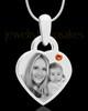 November Small Heart Stainless Photo Engraved Pendant