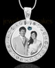 December Birthstone Gem Circle Photo Engraved Pendant