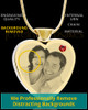 January Gold Plated Photo Engraved Heart Cremation Pendant