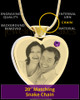 February Gold Plated Photo Engraved Heart Cremation Pendant