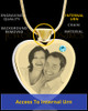 March Gold Plated Photo Engraved Heart Cremation Pendant