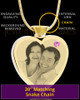 June Gold Plated Photo Engraved Heart Cremation Pendant