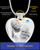 March Stainless Steel Photo Engraved Heart Cremation Pendant