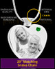 May Stainless Steel Photo Engraved Heart Cremation Pendant