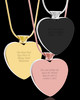 July Stainless Steel Photo Engraved Heart Cremation Pendant
