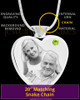 August Stainless Steel Photo Engraved Heart Cremation Pendant