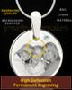 April Round Birthstone Stainless Steel Photo Pendant