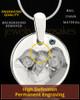 December Round Birthstone Stainless Steel Photo Pendant