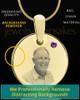 February Birthstone Gold Photo Round Pendant
